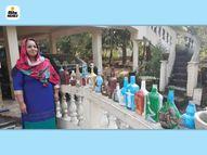 कोची की एक महिला ने सात अजूबों को बॉटल पर सजाया, इंडिया और एशियन बुक ऑफ वर्ल्ड रिकार्ड में दर्ज हुआ नाम|लाइफस्टाइल,Lifestyle - Dainik Bhaskar