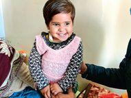 चंडीगढ़ PGI में 16 महीने की बच्ची का ब्रेन ट्यूमर नाक के रास्ते से निकाला गया|चंडीगढ़,Chandigarh - Dainik Bhaskar