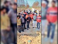 पोता के ग्रामीणों ने अंडरपास को 9 फुट बढ़ाकर 16 फुट करने की रखी मांग|कनीना,Kanina - Dainik Bhaskar