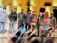 गढ़मंडोरा के जंगलों में पुलिस मुठभेड़ में दो बदमाश गिरफ्तार|करौली,Karauli - Dainik Bhaskar
