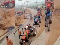 कंधवाला में किसानों ने निकाला ट्रैक्टर मार्च|अबोहर,Abohar - Dainik Bhaskar