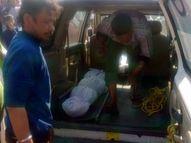 पुलिस की मौजूदगी में कब्र में दफन शव निकाला गया बाहर, भेजा गया पोस्टमॉर्टम के लिए|हजारीबाग,Hazaribagh - Dainik Bhaskar