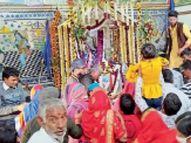 चिड़ावा में समाधि स्थल, चौरासिया और श्रीदेवीजी मंदिर में मनाया नगर देव बावलिया बाबा का निर्वाण उत्सव|झुंझुनूं,Jhunjhunu - Dainik Bhaskar