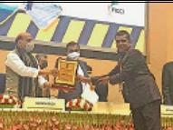 एनएचएआई प्रबंधक जितेंद्र चौधरी दिल्ली में अवार्ड ऑफ एक्सीलेंस से हुए सम्मानित|बाड़मेर,Barmer - Dainik Bhaskar