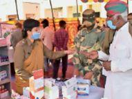 बीएसएफ के निशुल्क चिकित्सा शिविर से ग्रामीण लाभान्वित|बाड़मेर,Barmer - Dainik Bhaskar