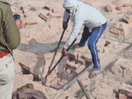 जिस मजदूर के बेटे को 150 पुलिसवाले खोज रहे थे वह ईंट के भट्टे में जिंदा जल गया झुंझुनूं,Jhunjhunu - Dainik Bhaskar