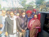 सांसद ने किया पांच सड़कों के नवीनीकरण का शिलान्यास|चाकसू,Chaksu - Dainik Bhaskar