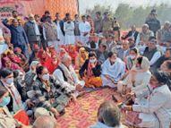 लांधड़ी टोल से महिलाओं का जत्था दिल्ली रवाना, किरोड़ी गांव में ट्रैक्टर मार्च निकाला|हिसार,Hisar - Dainik Bhaskar