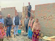 बीडीओ ने की आवास निर्माण की जांच, दो को नोटिस|मोतिहारी,Motihari - Dainik Bhaskar