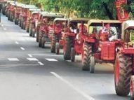 किसानों की रैली में 2 किमी तक ट्रैक्टरों की लाइन, यातायात नहीं रुके, इसलिए लंबी कतार में रहे सैकड़ों ट्रैक्टर|टोंक,Tonk - Dainik Bhaskar