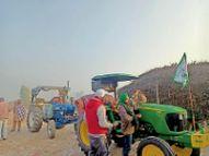 फाजिल्का से 46 ट्रैक्टर-ट्रॉलियों पर 230 किसान दिल्ली रवाना|फाजिल्का,Fazilka - Dainik Bhaskar