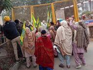 बठिंडा में भाजपा नेता मनोरंजन कालिया का विरोध; किसानों ने तोड़े बैरिकेड, पुलिस वालों से की धक्कामुक्की|बठिंडा,Bathinda - Dainik Bhaskar