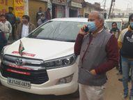 भरतपुर में बीच शहर बने गेट का मुआयना करने पहुंचे मंत्री गर्ग, जर्जर हाल देखकर कहा- तुरंत रास्ता बंद करो|भरतपुर,Bharatpur - Dainik Bhaskar