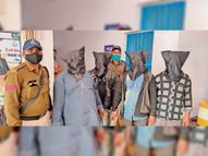 बाजार में नकली नोट खपाने की कोशिश में बाप व 3 बेटे पकड़ाए, 100 रुपए के 33 नोट बरामद|बुरहानपुर,Burhanpur - Dainik Bhaskar
