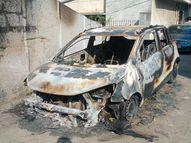 रायपुर में सिरफिरे ने आधी रात को 7 गाड़ियों को जलाया, CCTV कैमरों में पेट्रोल लेकर घूमता दिखा, अब गिरफ्तार|रायपुर,Raipur - Dainik Bhaskar