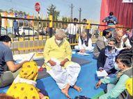 किराेड़ी रात तक धरने पर बैठे, सीएम को लिखा पत्र|जयपुर,Jaipur - Dainik Bhaskar