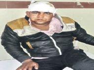 नाबालिग से ज्यादती का प्रयास आरोपी को पेड़ से बांधकर पीटा सीकर,Sikar - Dainik Bhaskar