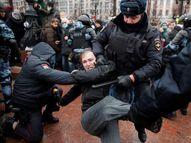 विपक्षी नेता की गिरफ्तारी के विरोध में राजधानी मॉस्को समेत 70 शहरों में प्रोटेस्ट, दो हजार से ज्यादा अरेस्ट|विदेश,International - Dainik Bhaskar