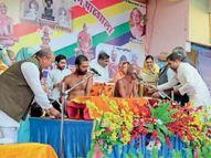 वार्षिक महोत्सव, ज्ञान कलश की स्थापना मुनिश्री के सानिध्य में हुई|गंजबासौदा,Ganjbasoda - Dainik Bhaskar