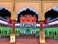 सदर मंजिल पर लाइट के कॉम्बिनेशन से जगमग 65x200 फीट का तिरंगा|भोपाल,Bhopal - Dainik Bhaskar