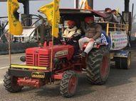 पंजाब-हरियाणा के हजारों किसान ट्रैक्टर पर सवार होकर दिल्ली के लिए निकले, कई ने तो नए ट्रैक्टर खरीद लिए|पानीपत,Panipat - Dainik Bhaskar