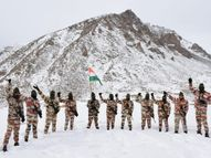 ITBP के जवानों ने माइनस 25 डिग्री तापमान में तिरंगा फहराया; संघ प्रमुख भागवत ने भी किया ध्वजारोहण|देश,National - Dainik Bhaskar
