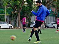3 सप्ताह तक फुटबॉल नहीं खेल सकेंगे अभिषेक, रणबीर जैसे सेलेब्स, कोविड के बढ़ते केसों ने लगाई रोक|बॉलीवुड,Bollywood - Dainik Bhaskar