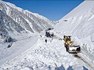 पहली बार 59 दिन में ही खुला जोजिला पास, बर्फबारी के बाद 90 से 150 दिन तक बंद रहता था|देश,National - Dainik Bhaskar