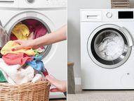 वाशिंग मशीन में कपड़े धोते समय कपड़ों पर लगे दाग को जोर से न घिसें, जरूरत से ज्यादा डिटर्जेंट का इस्तेमाल करने से बचें|लाइफस्टाइल,Lifestyle - Dainik Bhaskar
