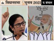 अपने दुर्ग में ही कमजोर पड़ रही है TMC; धुव्रीकरण का मुद्दा गांवों तक पहुंचा, लोग दीदी से खुश तो हैं लेकिन करप्शनसे नाराज पश्चिम बंगाल,West Bengal - Dainik Bhaskar