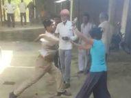 छेड़खानी का विरोध करने पर होमगार्ड ने महिला को पीटा; दुकान की सब्जियों को सड़क पर फेंका, गिरफ्तार|कानपुर,Kanpur - Dainik Bhaskar