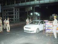 एक घंटे पहले से ही बंद होना शुरू हो गई दुकानें, सड़कों पर दिखी पुलिस की सख्ती; दुकानदार बोले- बस लॉकडाउन न लगे|लखनऊ,Lucknow - Dainik Bhaskar