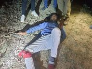 बिहार का रहने वाला 25 हजार का इनामी बदमाश पुलिस की गोली से घायल; हनुमानगढ़ी के महंत की हत्या कांड में था वांछित|लखनऊ,Lucknow - Dainik Bhaskar