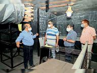 हिंडाल्को अंडरग्राउंड माइंस का कलेक्टर ने लिया जायजा|रायगढ़,Raigarh - Dainik Bhaskar