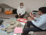 रेवेन्यू बोर्ड के मेंबर हैं अधिकारी, जयपुर स्थित आवासों से 80 लाख रुपए कैश मिला; दफ्तर भी सील|अजमेर,Ajmer - Dainik Bhaskar