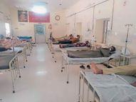 कोविड वार्ड में बिना पीपीई किट, नाक के नीचे मास्क पहन मरीजों के पास वाले बेड पर लेटे दिखे 2 कांस्टेबल|पाली,Pali - Dainik Bhaskar