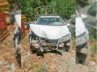 मोहाली सेक्टर-70 लाइट पॉइंट पर हुआ हादसा, तीन वाहन आपस में टकराए, एक की मौत|मोहाली,Mohali - Dainik Bhaskar