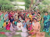 महिलाओं ने नगर भ्रमण व नृत्य कर मनाया गणगौर पर्व भीनमाल,Bhinmal - Dainik Bhaskar