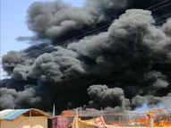 100 से ज्यादा झुग्गियां जलकर राख के ढेर में तब्दील, हर सेकंड पर फटा एक गैस सिलेंडर|गुड़गांव,Gurgaon - Dainik Bhaskar