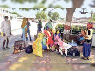 कोरोना संक्रमण के दोबारा बढ़ने के साथ ही मजदूरों की घर वापसी शुरू|सीकर,Sikar - Dainik Bhaskar