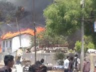 पटना के मैनपुरा इलाके में अगलगी, फायर ब्रिगेड की 3 गाड़ियां पहुंची, लोगों को निकाला गया बाहर|पटना,Patna - Dainik Bhaskar
