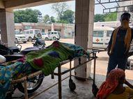 ट्रैक्टर से गिरकर महिला मजदूर की मौत, ईंट अनलोड कर घर खाने आ रही थी|जमशेदपुर,Jamshedpur - Dainik Bhaskar
