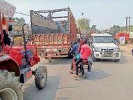 बायपास के बाद भी नगर से निकलते हैं भारी वाहन सीहोर,Sehore - Dainik Bhaskar