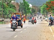 58 घंटे लॉकडाउन का पहला दिन; पुलिस की सख्ती कम, इलाज, पानी और वैक्सीन के लिए सड़क पर निकले लोग|सागर,Sagar - Dainik Bhaskar