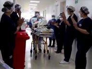 कोलंबिया की 104 साल की कार्मन हर्नांडेज ने दूसरी बार कोरोना को हराया, अस्पताल के स्टाफ ने तालियां बजाकर उन्हें विदा किया|लाइफस्टाइल,Lifestyle - Dainik Bhaskar