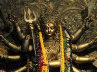 देवी दुर्गा को लाल चुनरी और लाल फूल चढ़ाएं, दीपक जलाकर करें मंत्रों का जाप, अधार्मिक कामों से बचें|धर्म,Dharm - Dainik Bhaskar