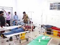 बेकाबू ट्रक ने कार को पीछे से मारी टक्कर; टायर बदल रहे ड्राइवर समेत तीन व्यक्तियों की मौत, 8 घायल|कानपुर,Kanpur - Dainik Bhaskar