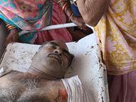 विद्युत विभाग की लापरवाही से आउट सोर्स कर्मचारी की मौत, परिजनों ने किया अस्पताल में हंगामा|रीवा,Rewa - Dainik Bhaskar