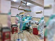 संक्रमित महिला की सफल सर्जरी, मां-बच्चा दोनों स्वस्थ इंदौर,Indore - Dainik Bhaskar