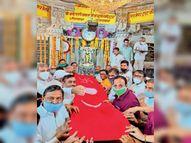 अमावस्या पर चारभुजानाथ का बेवाण नहीं पहुंचा भक्ताें के द्वार पर, मंदिर में ही छप्पनभाेग लगाया|भीलवाड़ा,Bhilwara - Dainik Bhaskar